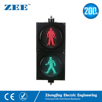 8 inches LED Pedestrian Traffic Signal Light Red Green Man People Crossing Light