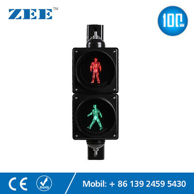 4 inches LED Pedestrian Traffic Signal Light Red Green Man People Crossing Light