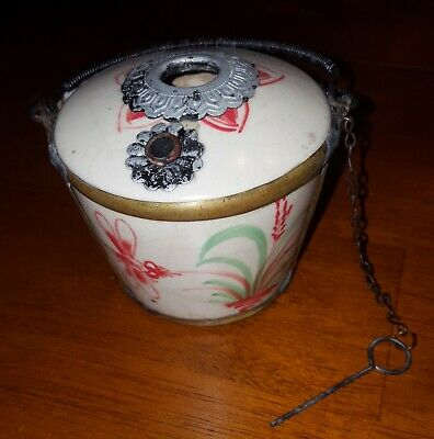 Antique Asian Vietnam Chinese Porcelain Pottery Opium Vessel Pot