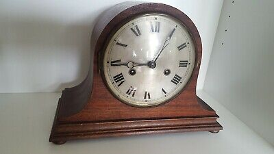 HAC  8 Day Striking Mantel Clock In Working Order Napoleon style mahogany