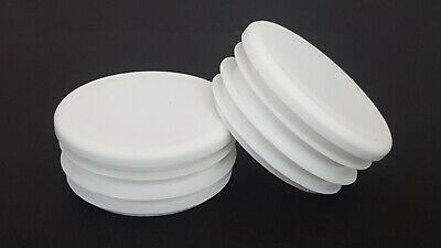 43mm-100pcs Round Plastic White Blanking End Cap Caps Tube Pipe Inserts Plug