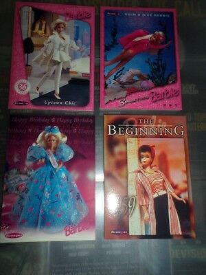 Barbie-4 Card Promotional Set-1996 Barbie Card Set Release By Tempo Australia