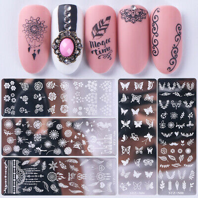 Nail Art Stamp Stamping Template Flower Animals DIY Nails Designs Manicure Acces