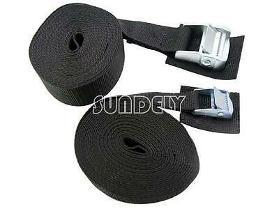 Roof Rack Straps 3m Long 25mm cam lock buckle pair Typhoon Tie Down Strap