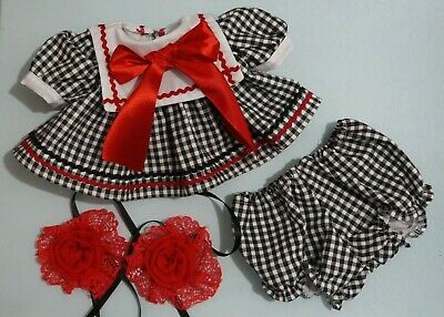 My Child Doll School Dress - Dress - Panties - Barrettes