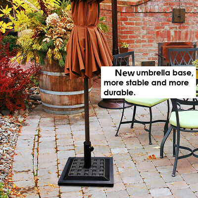 12KG Garden Square Parasol Base Patio Umbrella Stand Holder Heavy Duty Weights