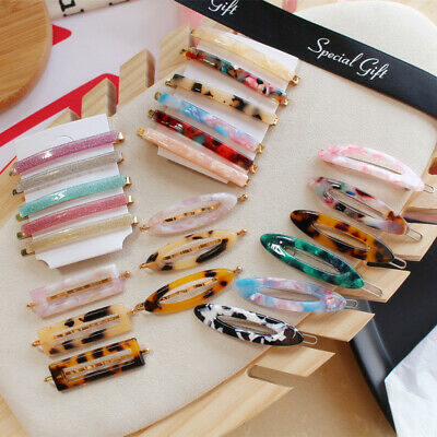 Fashion Women's Resin Acetate Hair Clip Girls Headwear Barrettes Hairpins Gifts