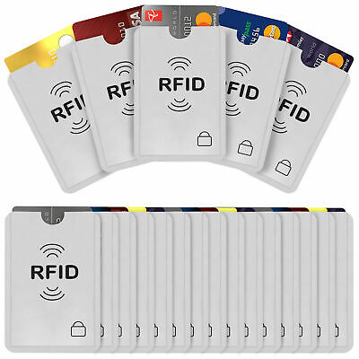 PACK OF 10 - RFID Blocking Sleeve Credit Card Protector Bank Card - UK STOCK
