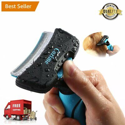 Pet Deshedding Brush, Professional Grooming Tool Reduces Shedding for Dogs Cats