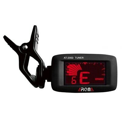 Aroma At-200D Clip on Guitar Tuner Portable Universal Digital Tuner for Chr Y3Q8