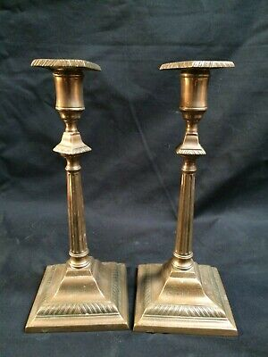 Foudroyant Rare Pair Copper Candlesticks Made From Salvage Of Nelsons Flagship