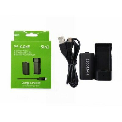 For Xbox One Console Controller 2x 2800 mAh Battery USB Charger Cable 4 Pack NEW
