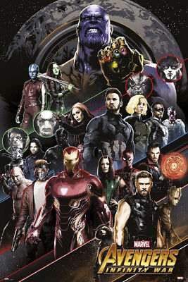 Avengers Infinity Guerre - Personnages Affiche 24x36 - 160677