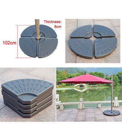 Fan Parasol Base Stand Weights for Banana Hanging Cantilever Umbrella 4 Pieces