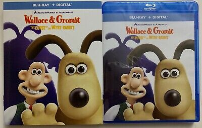 Dreamworks Wallace & Gormit The Curse Of The Were-Rabbit Blu Ray + Slipcover