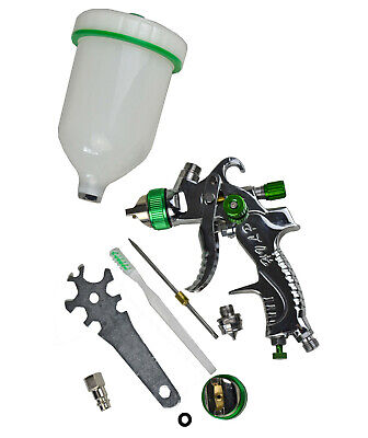 HVLP Spray Gun Kit Gravity Feed Vehcile Car Paint 1.4mm 1.7mm 2.0mm Nozzle 600CC
