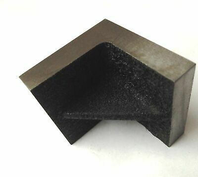 """Brand New Solid Webbed Caste Iron Angle Plate 2"""" x 2"""" x 2"""" Inches-Precise Ground"""