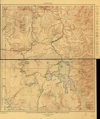 Map of the Yellowstone and Missouri rivers c1869 repro 24x16