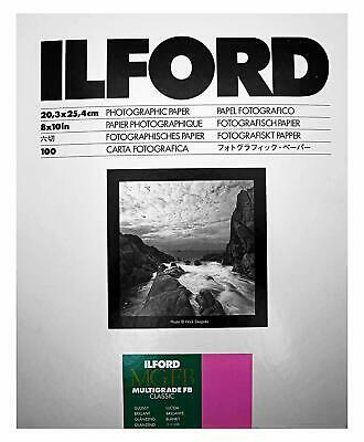Ilford Multigrade FB Classic Glossy 20.3x25.4cm 100Sheets Sharp Multigrade Plain