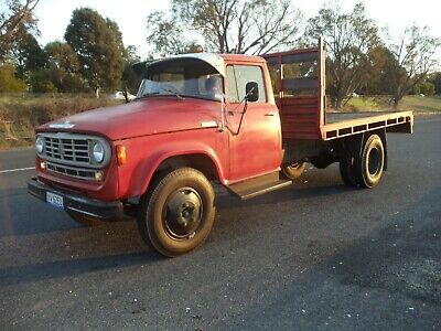 Vintage 1973 D1610 International Dodge Tray Truck.