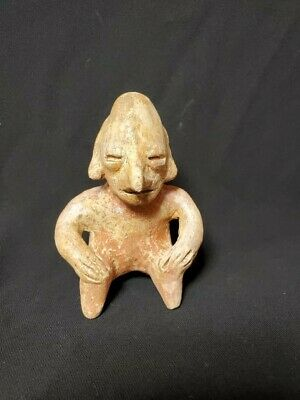 Pre-Columbian Jalisco Hunchback miniature figure from Mexico. Ca. 300 bc.
