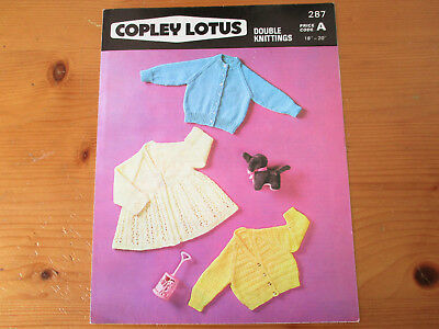 Copely Lotus, Dk, 18-20Inch, Three Baby Coats Knitting Pattern