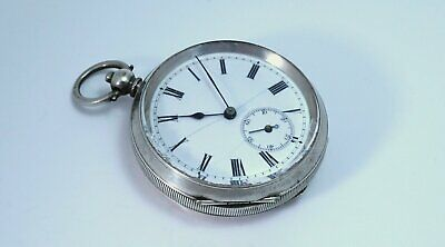 1919 Antique heavy solid silver 0.925 pocket watch 110g vintage