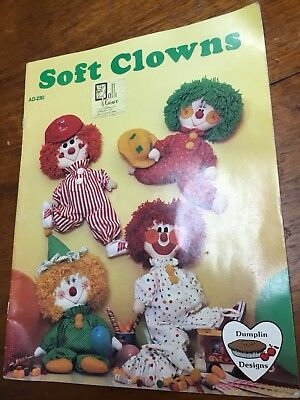 Soft Clowns AD 230 Barbara Graham Paperback Costumes Clowns 1983 Vintage 20pages