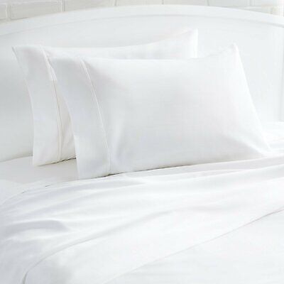 """Pair Of 100% Cotton 1000Tc Solid White Oversize King Pillowcases 22"""" X 44"""""""