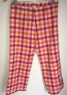 Ladies Pink Cropped Trousers 8 Fat Face  <NZ1961