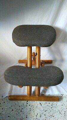 Massage Wooden Handy Folding Portable Adjustable Upright Padded Chair