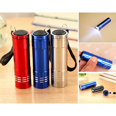 Mini Aluminum UV Ultravlolet LED Flashlight  Black light Torch Light Lam VvV