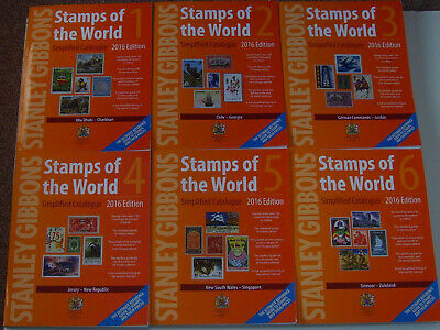 Stanley Gibbons Stamps Of The World 2016 Catalogue - All 6 Volumes !