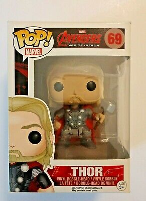 Funko Pop! MARVEL AVENGERS AGE OF ULTRON #69 THOR BOBBLE HEAD NIB