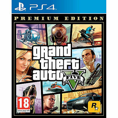 Grand Theft Auto V (PS4) - GTA 5 Five - New and Sealed Includes GTA Online