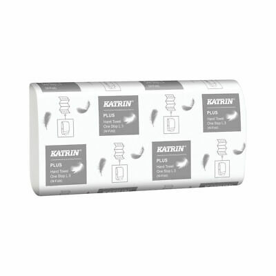 Katrin M-Fold Plus Hand Towels 3-Ply White (Pack of 1890) 344020