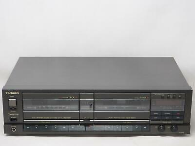 TECHNICS RS-T55R Dual Cassette Deck Player Recorder Works Great! Free Shipping!