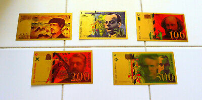 "★ COLLECTION COMPLETE 5 BILLETS POLYMER  "" OR ""  COULEURS ANNEES 95 2000 ★ REFa3"
