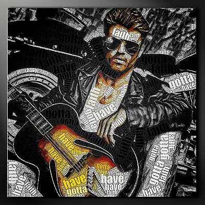 George Michael Typography Wall Art Canvas Picture Print Variety Of Sizes