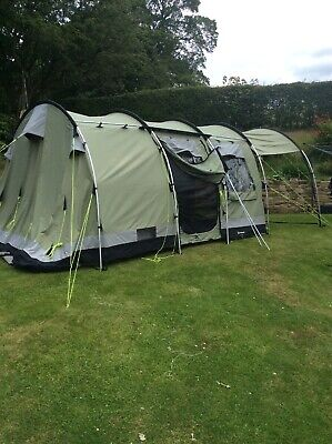 Outwell Bear Lake 4 Canvas Family Camping Tent Sleeps 4 To 6 People