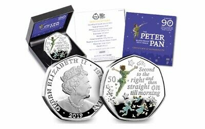 Peter Pan SIlver Proof 50p Fifty Pence Coin Coin Hunt Rare Coin Limited Edition