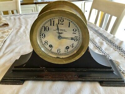Antique Seth Thomas Eight Day Ships Bell Clock