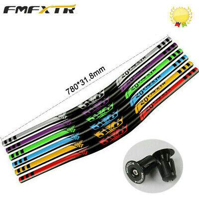 FMFXTR MTB/DH Bike Handlebar 31.8*780mm Aluminum Alloy Riser Bar 18mm 6 Colors