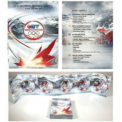 CTV VANCOUVER 2010 XXI OLYMPICS Winter Games DVD BOX SET 5 Discs Team Canada