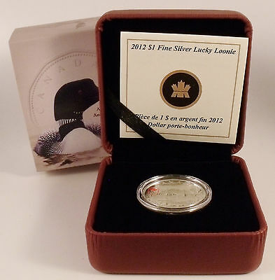 Canada 2012 Proof $1 Lucky Loonie 99.99% Fine Silver Coin