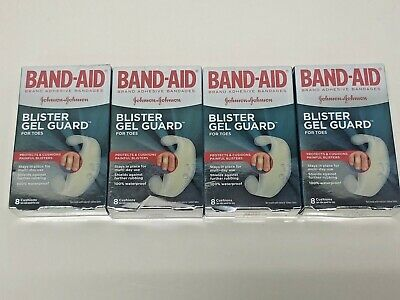 4 Pack BAND-AID Blister Gel Guard For Toes - 8 Cushions (Each) - 32 Pads Total