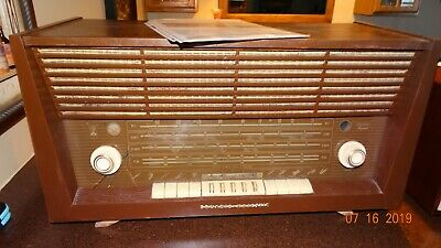 Grundig  Majestic 4095 Am/fm/sw Tube Radio Works