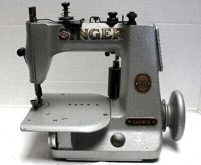 Lot of 10  SINGER 240 1-Needle Chainstitch Industrial Sewing Machine Head Only