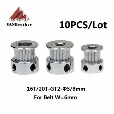 10PCS GT2 Timing Pulley 20 teeth Bore 5mm 6.35mm 8mm for Width 6mm GT2