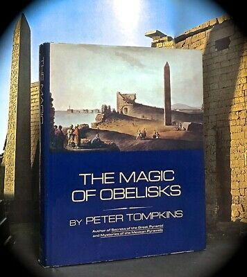 TOMPKINS: MAGIC OF OBELISKS ~ HC w D/J 1ST EDN 1981 ~ GOLDEN DAWN MASONIC OCCULT